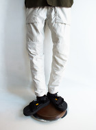 White line Change Cloth Military Pant