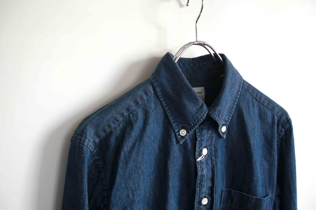 Manual Alphabetの6oz Denim B/D ShirtsのNAVY