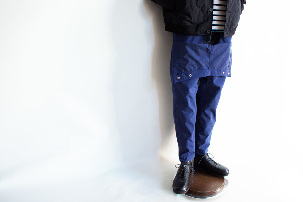 MeanswhileのBlackbord Cloth Saillor PantsのDeap Seaのスタイル画像