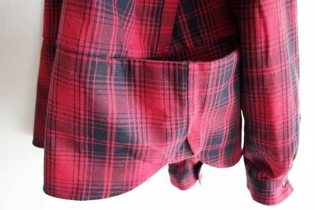 Meanswhile Flannel Check Shirt JacketのRedの横からの画像