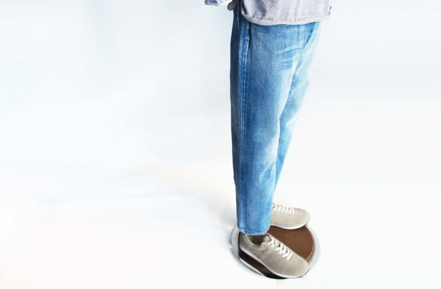 ordinary fitsのankle denim