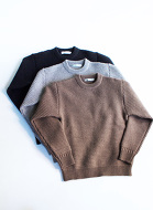 Island Knit Works 5G度詰めビッグワッフルクルー 30%off