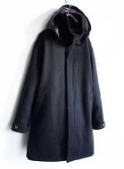 White line Angola Wool Coat